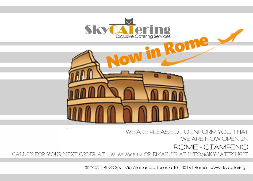 SKYCATERING IN ROME, EXCLUSIVE, PRIVATE JET, CATERING SERVICES